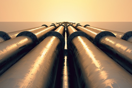 Oil Pipelines Lined Up