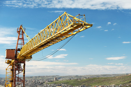 Tower Crane Overlooking Countryside