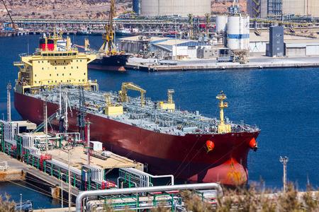 Tanker Ship at Dock