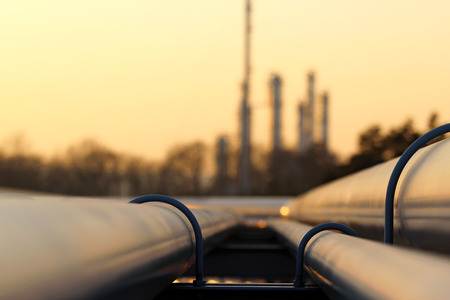 Pipeline leading to Oil Refinery