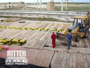 Hardwood Crane Mat Rental in LA & TX